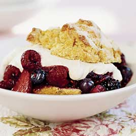 Brown-Sugar Berry Shortcakes
