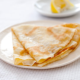 Crepes with Honey and Toasted Almonds