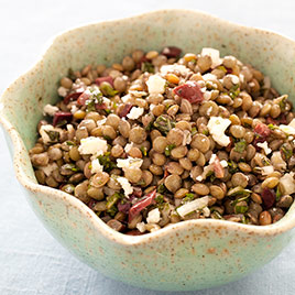 Lentil Salad with Pomegranate and Walnuts