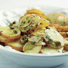 French Potato Salad with Dijon Mustard and Fines Herbes