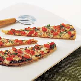 Grilled Tomato and Cheese Pizzas For Charcoal Grill