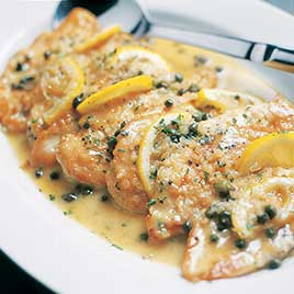 Chicken Piccata with Prosciutto