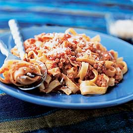 Beef Bolognese Sauce with Pancetta and Red Wine