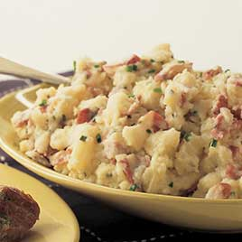 Smashed Potatoes with Bacon and Parsley