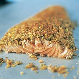Broiled Salmon with Mustard and Crisp Dilled Crust